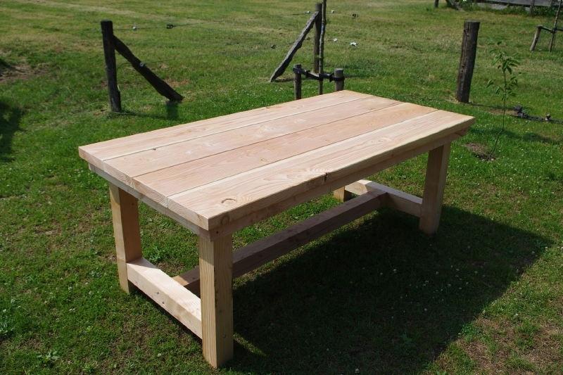 Welp stevige douglas tuintafel model ''boeren tafel'' | Tafels | FEMOR IA-92