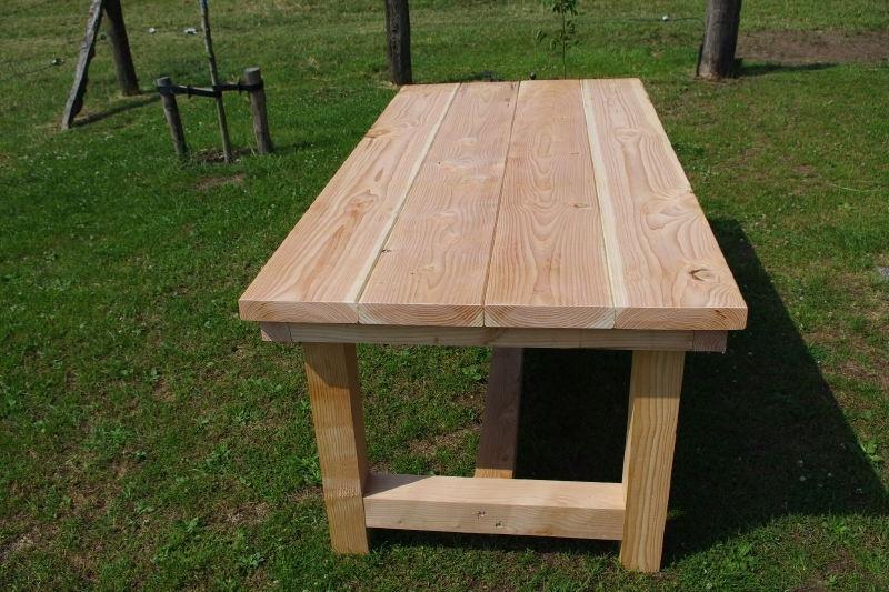 Ongekend stevige douglas tuintafel model ''boeren tafel'' | Tafels | FEMOR KZ-87