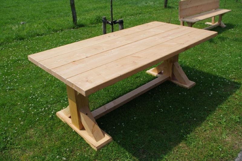 Wonderbaarlijk stevige douglas tuintafel model ''landelijke tafel'' | Tafels | FEMOR SW-31
