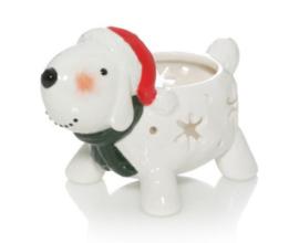 Snowman Tealight Holder - Dog