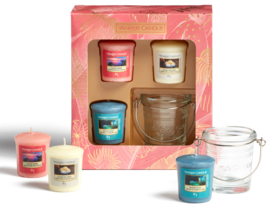 The Last Paradise 3 Votives & 1 Holder set