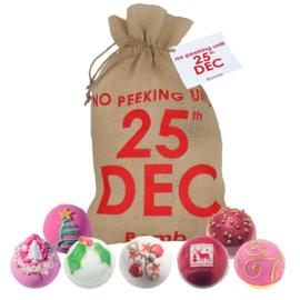 25th December Hessian Gift Sack