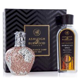 Ashleigh & Burwood Apricot Shimmer Giftset Small Fragrance Lamp