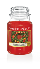 Red Apple Wreath Large Jar