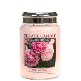 Village Candle Fresh Cut Peony Large Jar