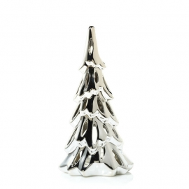 Silver Ceramic Trees Tea Light Luminary Medium