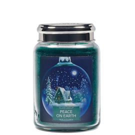 Village Candle Peace On Earth Large Jar