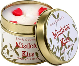 Tinned Candle Mistletoe Kiss