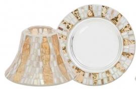 Gold Wave Mosaic Shade & Tray large