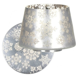 Yankee Candle Snowflake Frost Shade & Tray Large