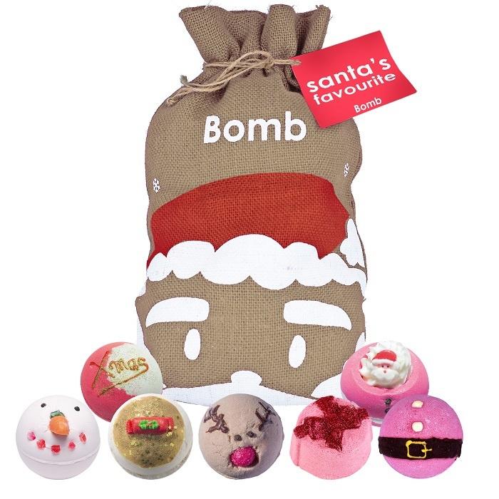 Bomb Cosmetics Santas Favourite Hessian Giftset
