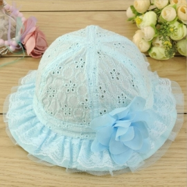 Zonnehoedje Cotton  (rose of blauw)