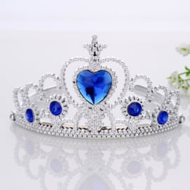 Tiara - Kroon diep blauw