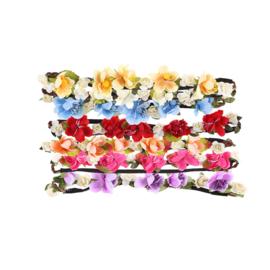 Bloem Haarband Flower - Makkelijk Elastisch  ( 4 kleuren)