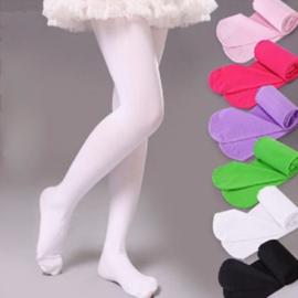 Meisjes  Panty (rose/rood en wit)