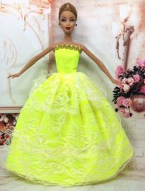 Barbie jurkje Lime
