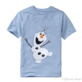 Frozen Olaf  t'shirt ( in blauw, grijs en groen)