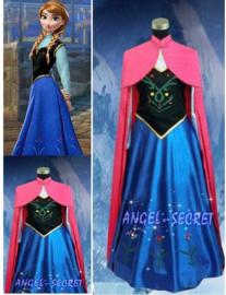 Frozen jurk prinses Anna met cape 34/38