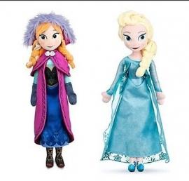 Frozen pluche knuffel/pop set met Anna&Elsa 40 cm