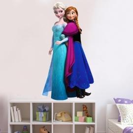 Frozen Muursticker Elsa & Anna