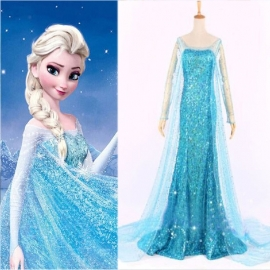 Frozen jurk prinses Elsa met sleep 34/44