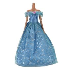 Barbie jurkje  Cinderella  Glim/Vlinder