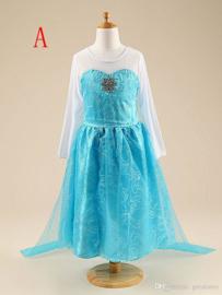 Frozen jurk prinses Elsa Dubbele  Rok + Sleep!  mt 104-128