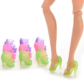 Barbie 'high heels' schoentjes in (set 2 paar)