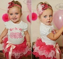 Verjaardagssetje Birthday Girl mt 74 -128