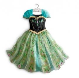 Frozen jurk prinses Anna Groen