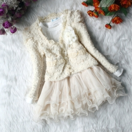 Feest Set 2 dlg Posh (tutu jurk + vest) 2 kleuren  110-122