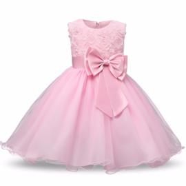 Feest jurk Rose (strik-glim-tule-gaas)  mt 104-110
