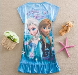 Frozen tuniekje Elsa & Anna blauw mt 116-122