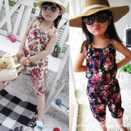Jumpsuit Floral White 86-134