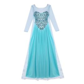 Frozen jurk prinses Elsa Luxe Paillet met sleep 42/44
