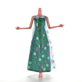Barbie jurkje  Elsa  uit Frozen