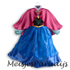 Frozen jurk prinses Anna met Cape mt 92-134
