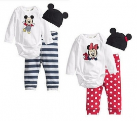 Setje 3 dlg. Minnie of Mickey (68-92)