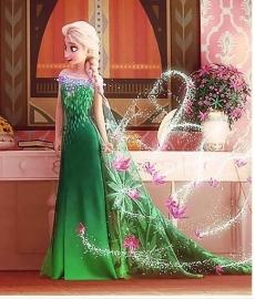Frozen Elsa Fever Groen