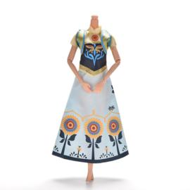 Barbie jurkje  Anna uit Frozen