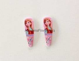 Frozen haarspeldjes roze Anna