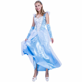 Prinses  jurk  2 dlg set  mt 40/42   (Intro Aktie)