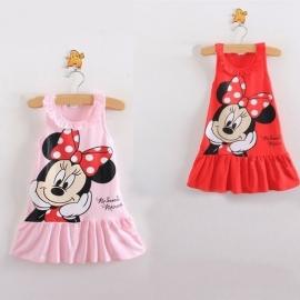 Minnie Mouse jurkje Rood (74-80)