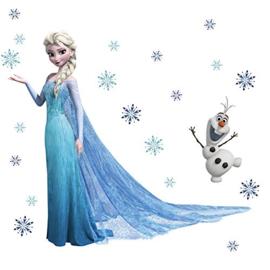 Frozen Muursticker Elsa (Bij deze muursticker nog 1 naar keuze erbij = 2 stuks)