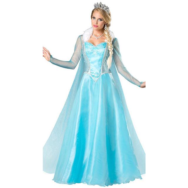 Frozen jurk prinses Elsa LUXE :  2dlg.  36/44     (Intro Aktie)