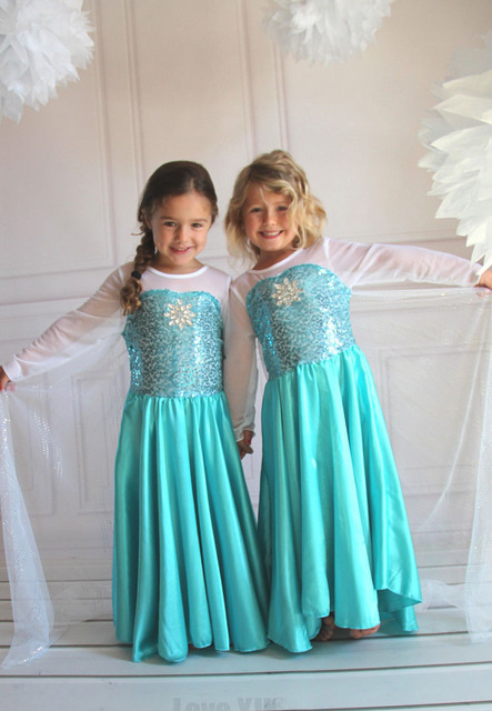 Frozen jurk prinses Elsa Classic met Sleep - mt 140-146
