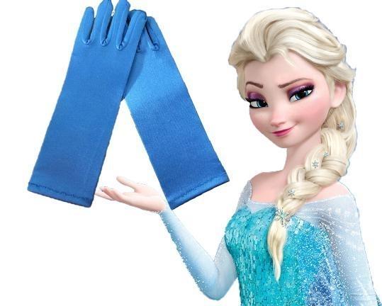 Frozen handschoenen Elsa blauw