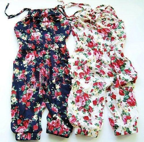 Jumpsuit Floral Blue 86-134