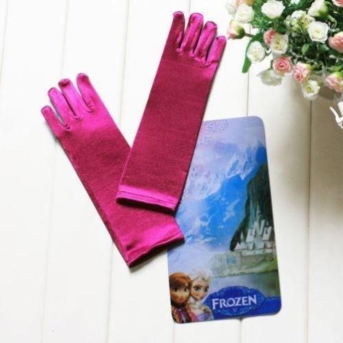 Frozen handschoenen Anna paars/rood