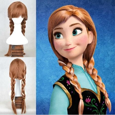 Frozen Anna pruik - grote maat